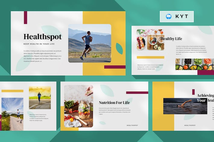 Thumbnail for HEALTHSPOT - Healthy Life Keynote Template