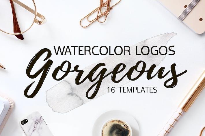 Thumbnail for Gorgeous Watercolor Logo Templates