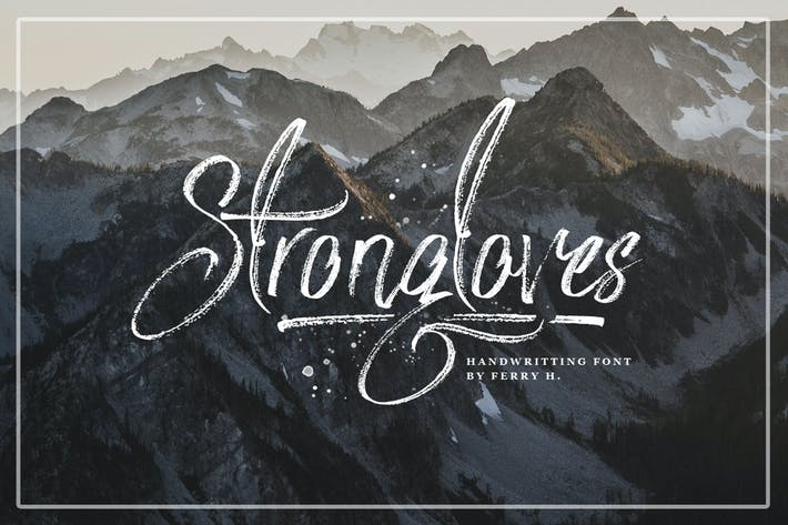 Cover Image For Strongloves - Handwritting Font