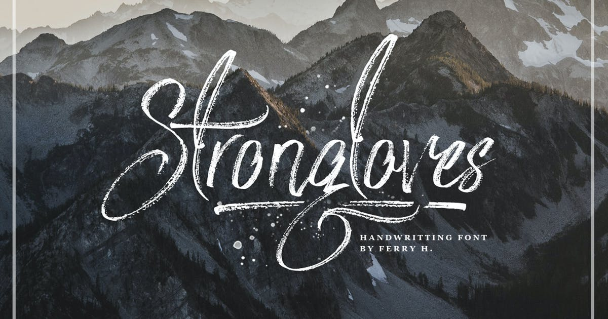 Strongloves - Handwritting Font by Voltury