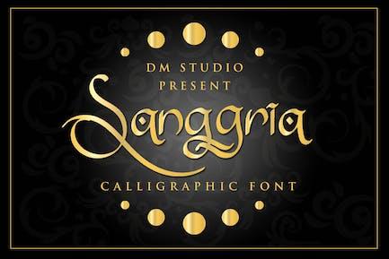 Sanggria - Calligraphic Font