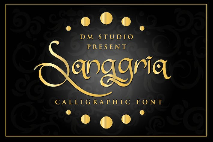 Thumbnail for Sanggria - Calligraphic Font