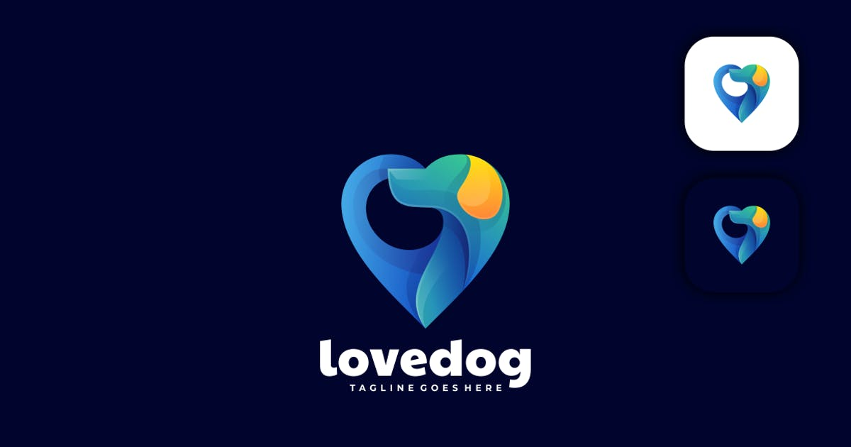 Download Love and Dog Gradient Logo by artnivora_std