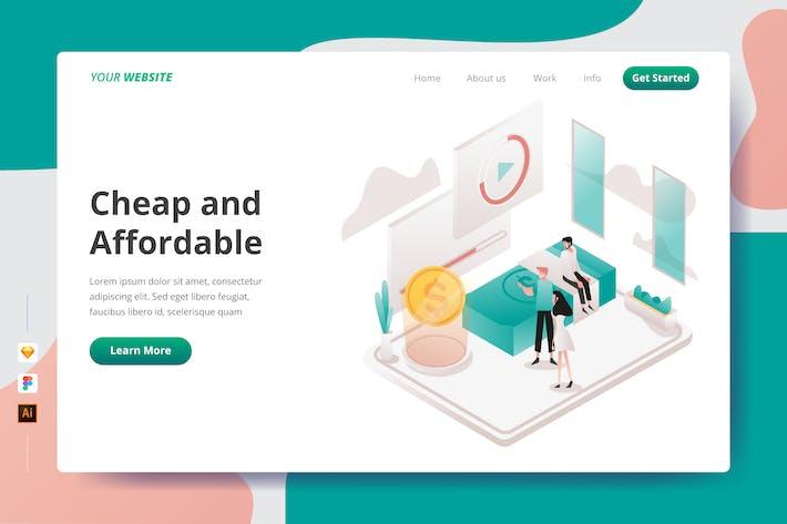 Günstig und günstig - Landing Page