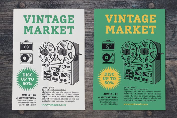 Thumbnail for Vintage Music Market Flyer