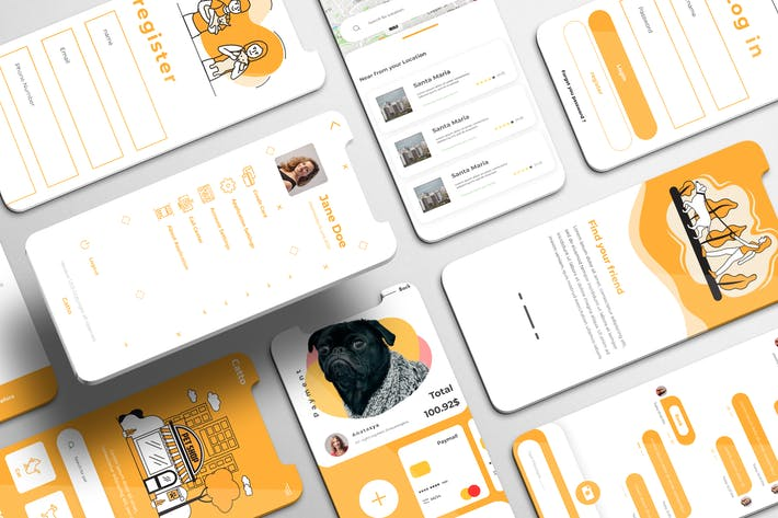 Thumbnail for Catto UI Kit - Pet Shop Apps