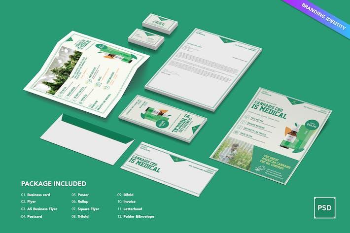 Thumbnail for Cannabis Hemp Oil Products Identity PSD Template