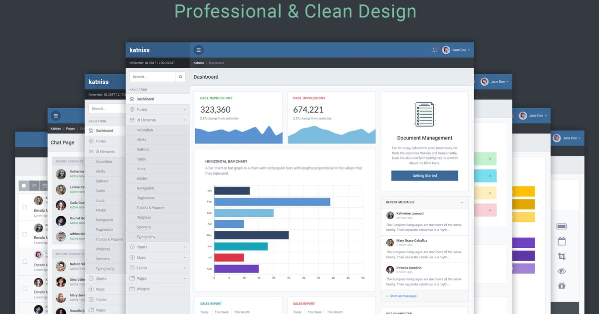 Download Katniss Responsive Bootstrap 4 Admin Template by themepixels