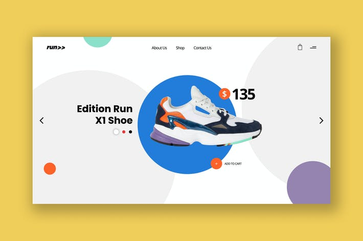Thumbnail for Casual Footwear Ecommerce Hero Header Template