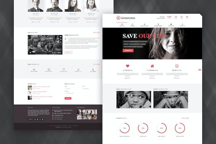 Thumbnail for Generoso - Plantilla de la caridad Joomla