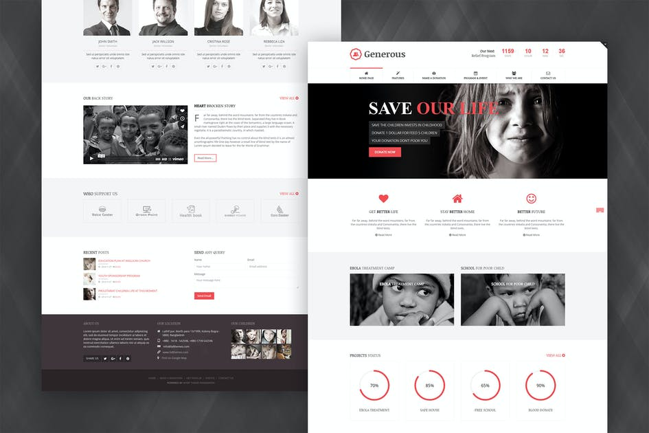 Download Generous - Charity Joomla Template by bdthemes
