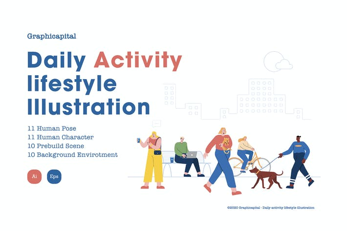 Thumbnail for Daily Activity Lifestyle Illustration