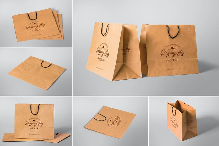 Thumbnail for 6 Appealing Shopping Bag Mockups