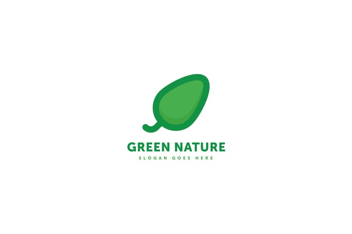 Green Nature Leaf Logo Template