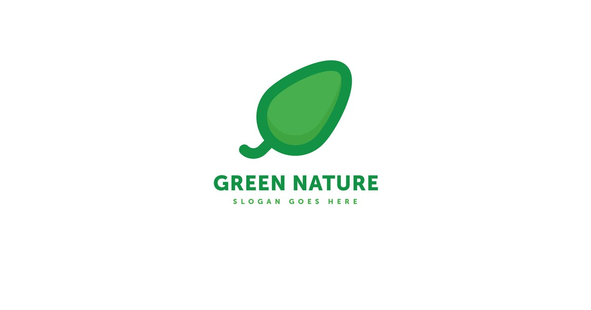 Download Green Nature Leaf Logo Template by Pixasquare