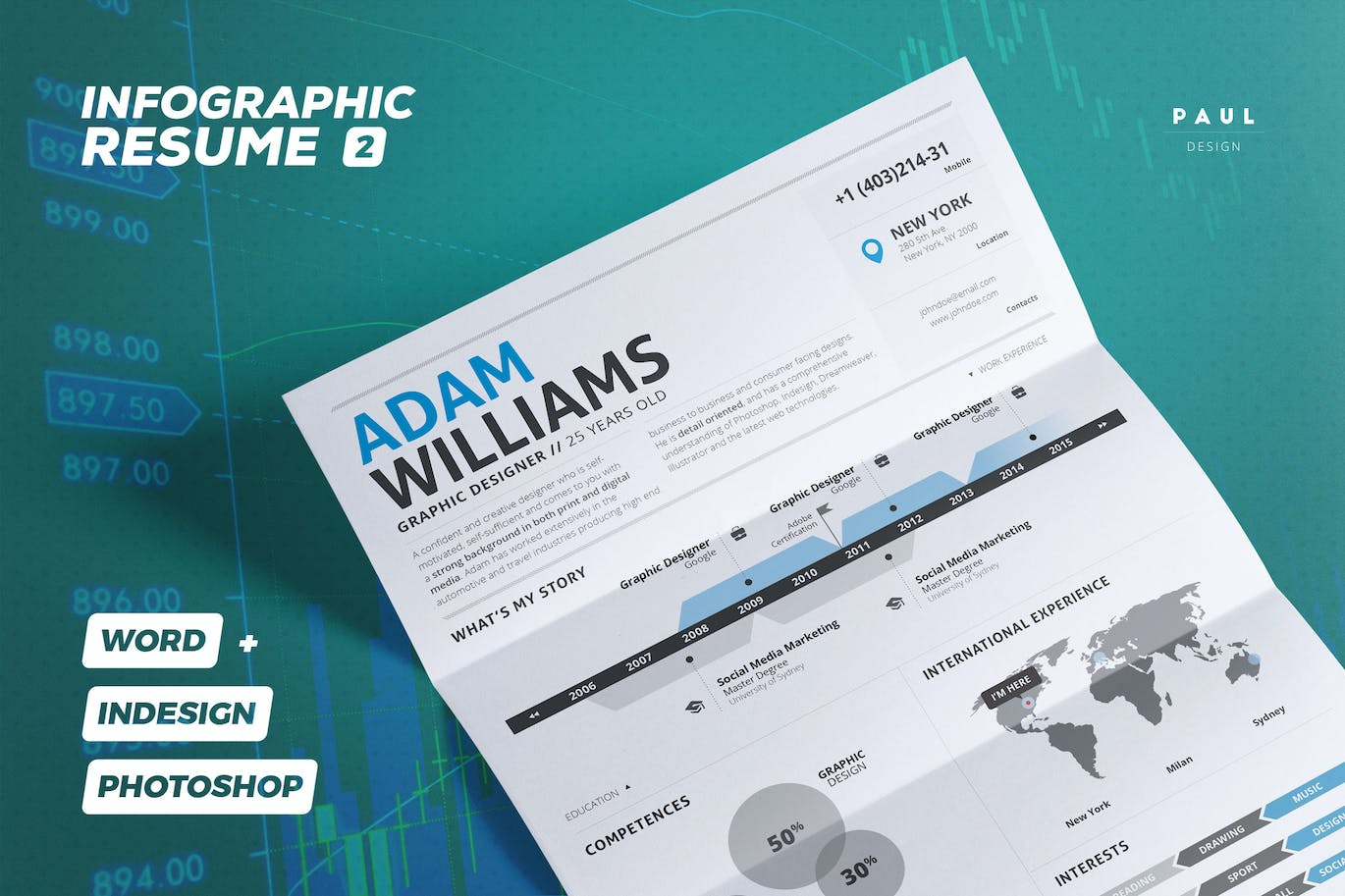 infographic resume cv volume 2 by paolo6180 on envato elements infographic resume cv volume 2