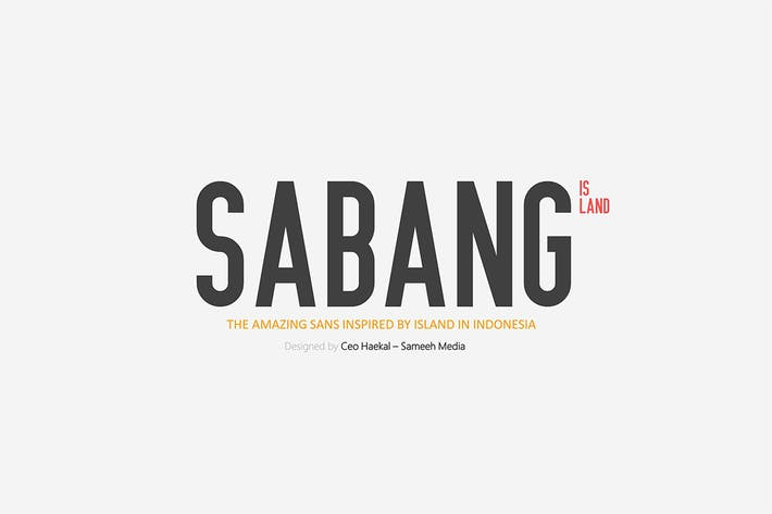 Thumbnail for Sabang Island Typeface