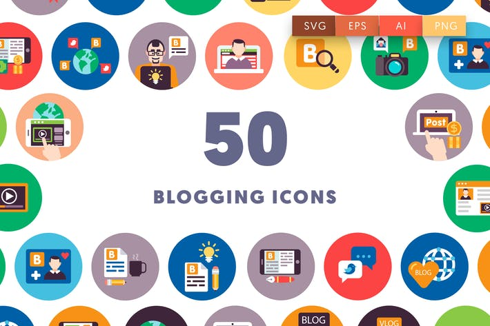 Thumbnail for 50 Blogging Icons
