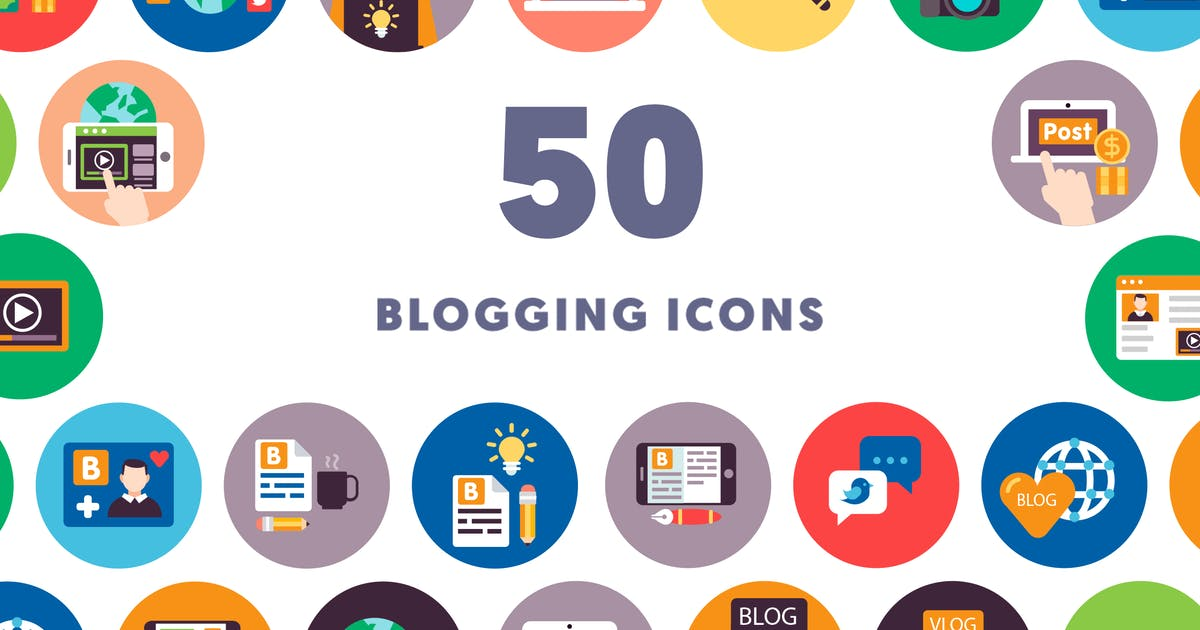 50 Blogging Icons by thedighital