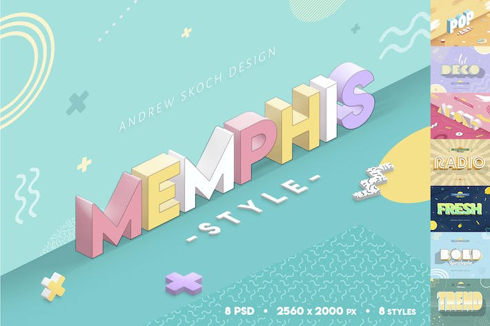 Thumbnail for Memphis Style - Text Effects
