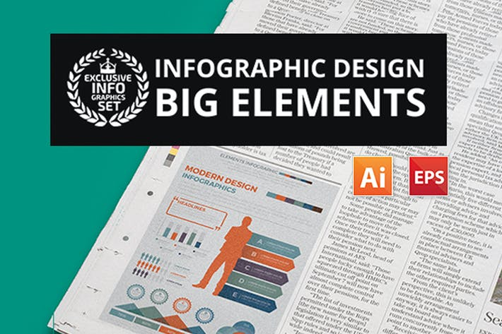 Thumbnail for Big Elements Infographics