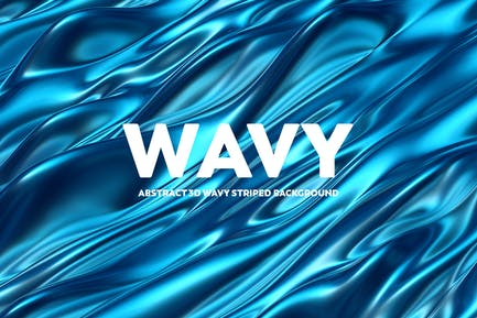 Abstract 3D Wavy Backgrounds - Blue Color