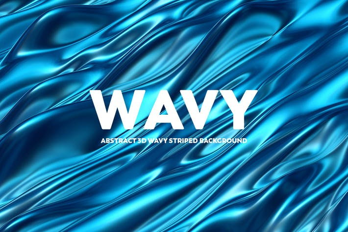 Thumbnail for Abstract 3D Wavy Backgrounds - Blue Color