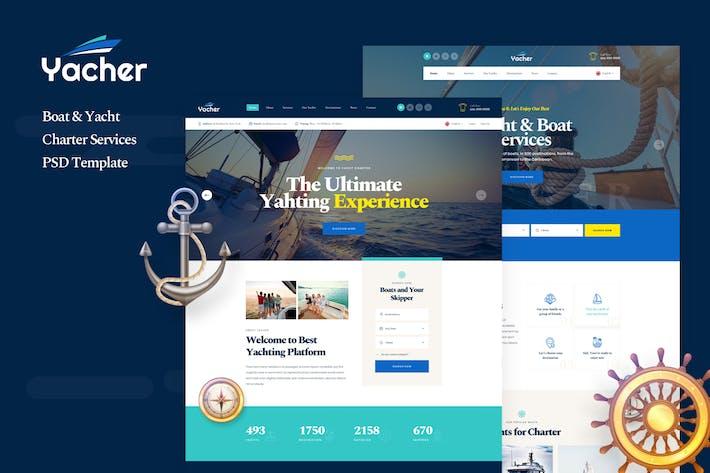 Thumbnail for Яхер - Аренда лодок и яхт PSD