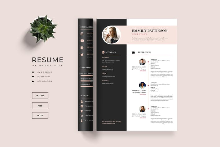 Thumbnail for Resume / CV - Cover Letter Template
