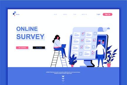 """Online-UmfrageVorlage """"Landing Page"""""""