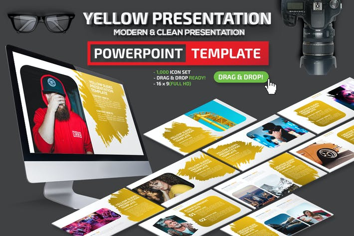 Thumbnail for Yellow Powerpoint Presentation Template