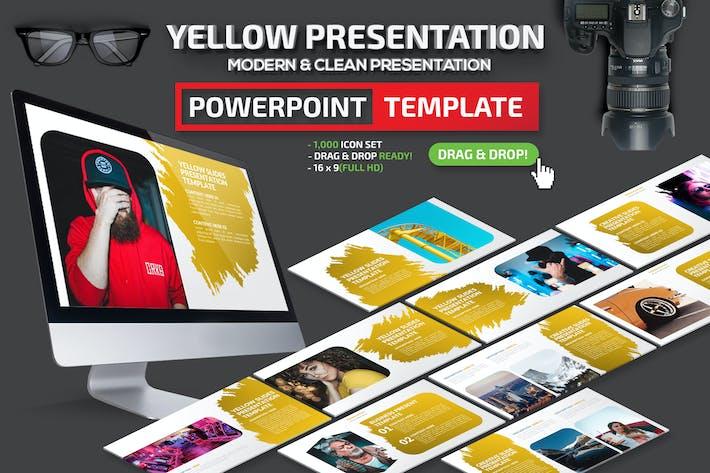 Thumbnail for Желтый Шаблон презентации Powerpoint