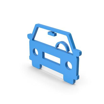 Symbol Car Blue