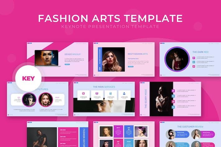Thumbnail for Модные искусства - Шаблон Keynote