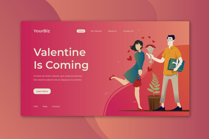 Thumbnail for Valentine Landing Page
