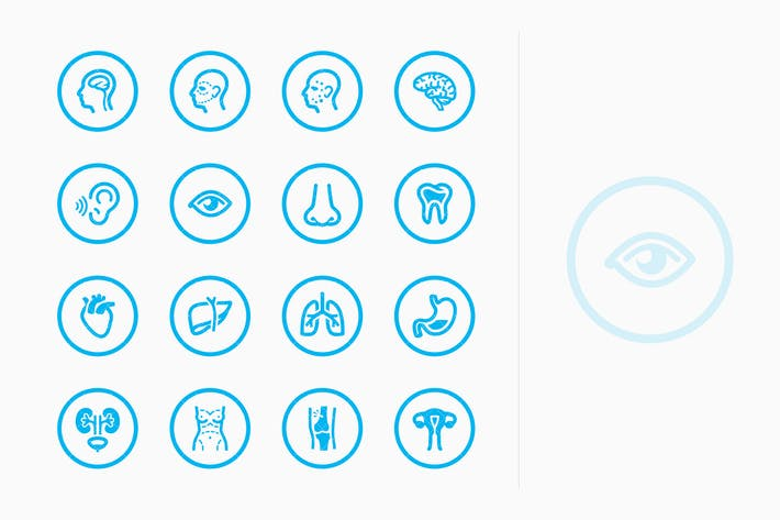 Thumbnail for Medical Specialties Icons Set 1 - Blue Circles