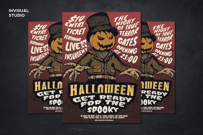 Thumbnail for Pumpkin Halloween - Flyer Template