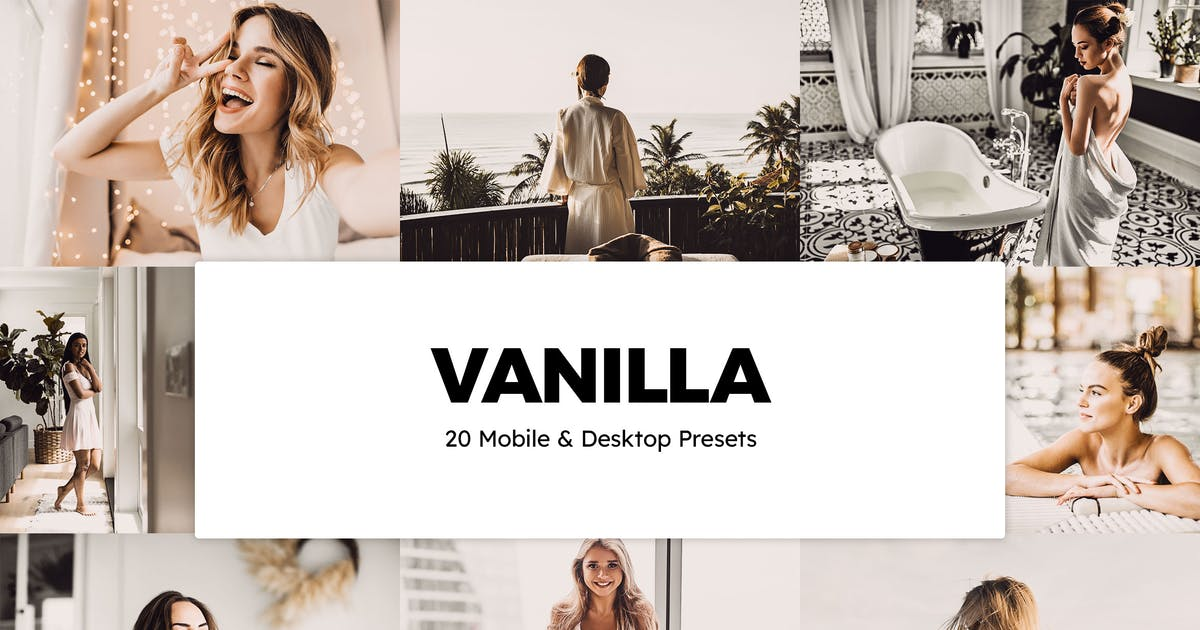Download 20 Vanilla Lightroom Presets & LUTs by sparklestock