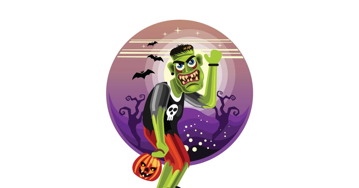 Download Frankenstein Halloween Character by IanMikraz
