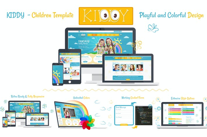 Thumbnail for Kiddy Children HTML Template