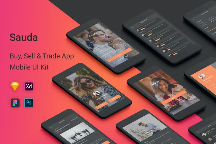 Thumbnail for Sauda - Buy, Sell & Trade UI Kit Mobile App