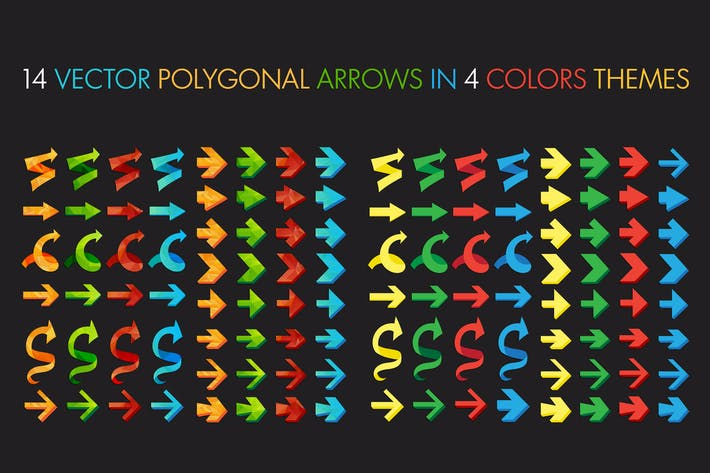 Thumbnail for Polygonal Arrows Set