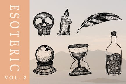 Esoteric hand drawn illustration vol. 2