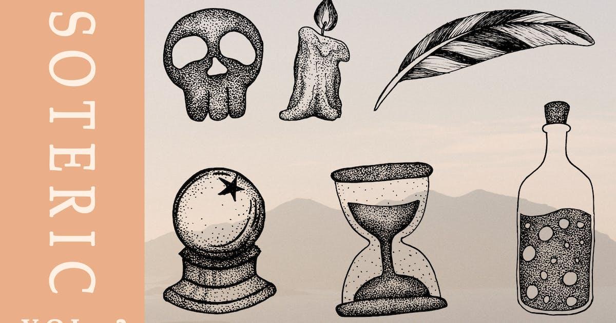Download Esoteric hand drawn illustration vol. 2 by AfandiAB