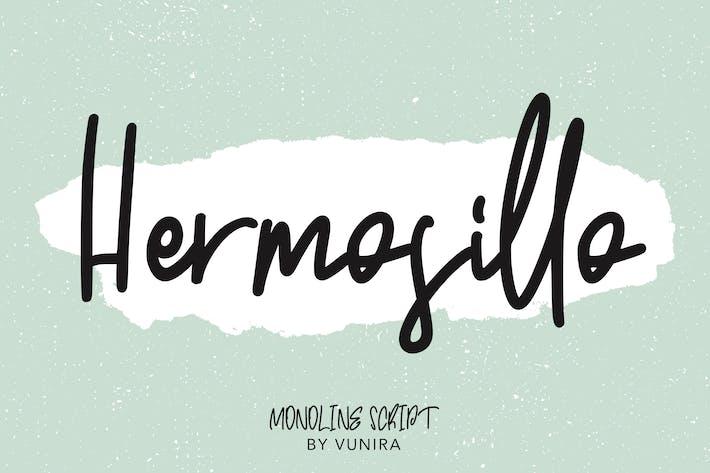 Thumbnail for Hermosillo   Monoline Script