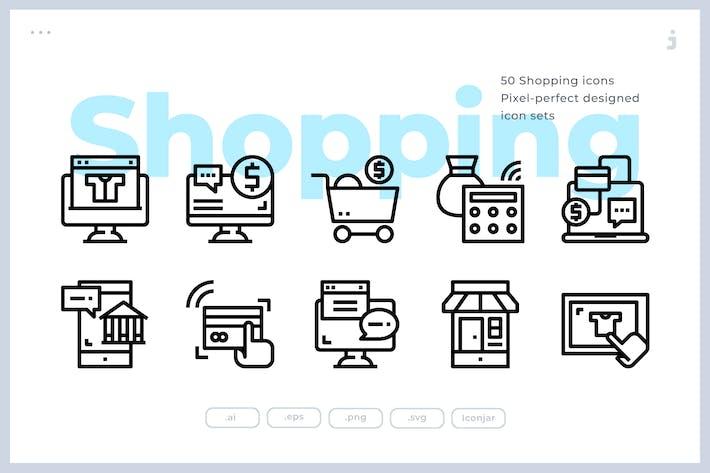 Thumbnail for 50 Иконки электронной коммерции