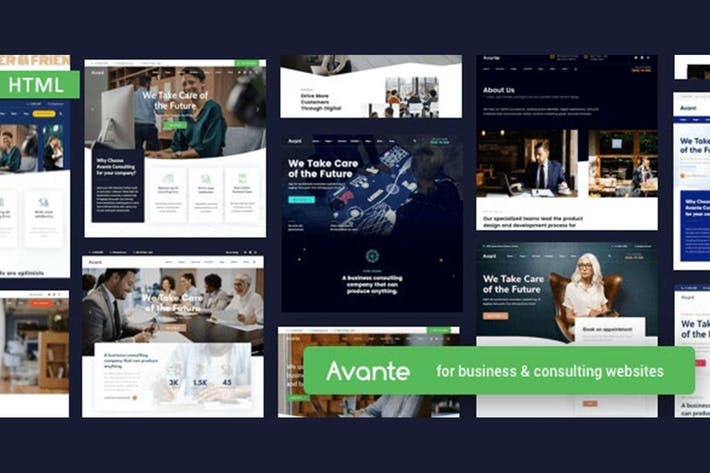 Thumbnail for Avante - Business HTML Template