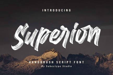 Superion - Brush Font