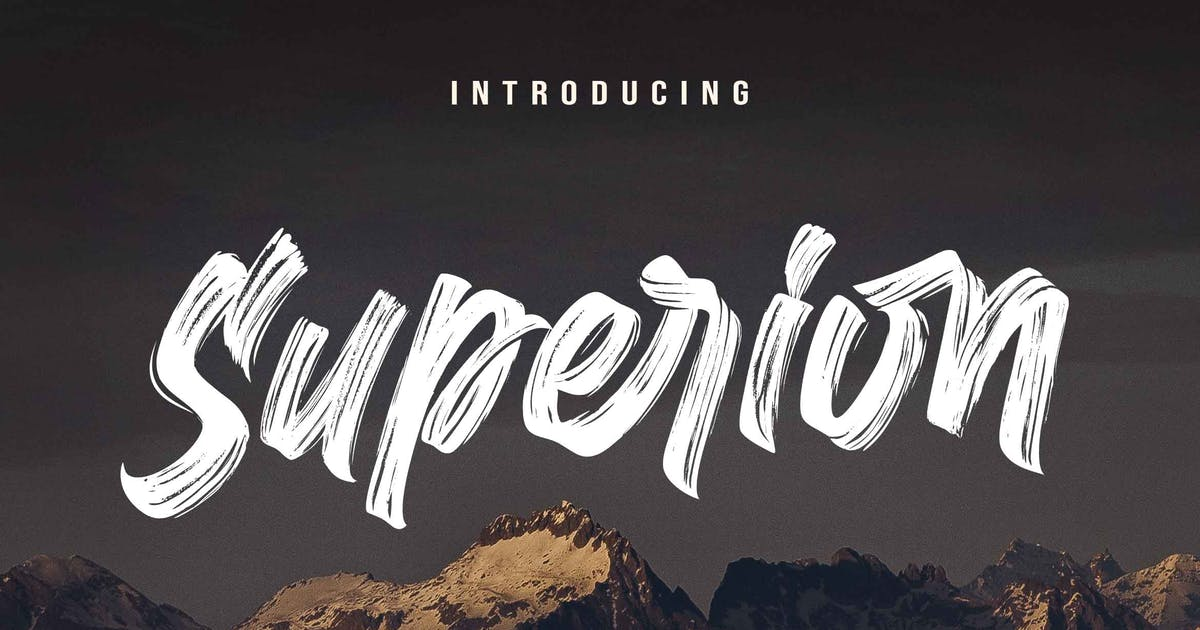 Download Superion - Brush Font by Subectype