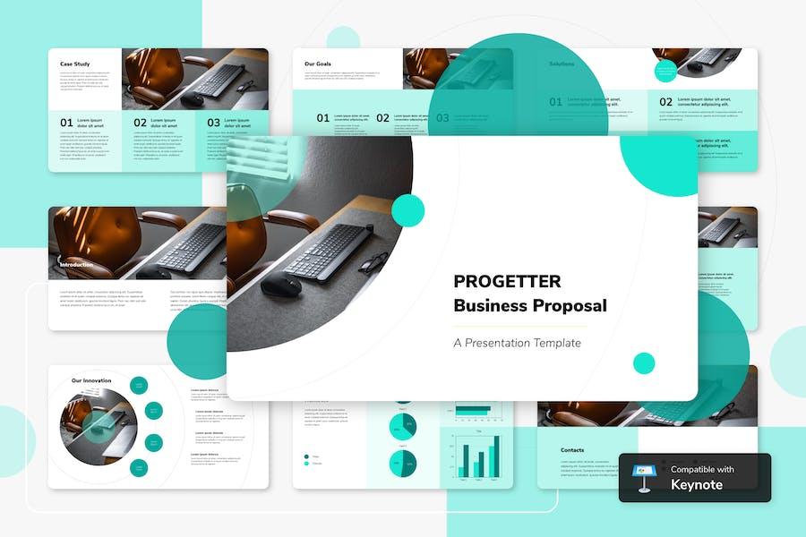 PROGETTER - Шаблон ключевых заметок бизнеса